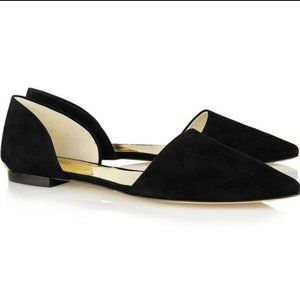 Suede Point-Toe Flats